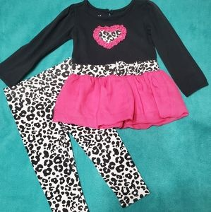 Pink & Black Cheetah Print Outfit